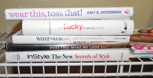 I keep style books on hand for instant ideas!