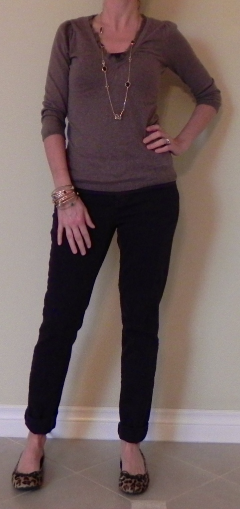Sweater: Loft, Shoes: Target, Necklace: Stella and Dot